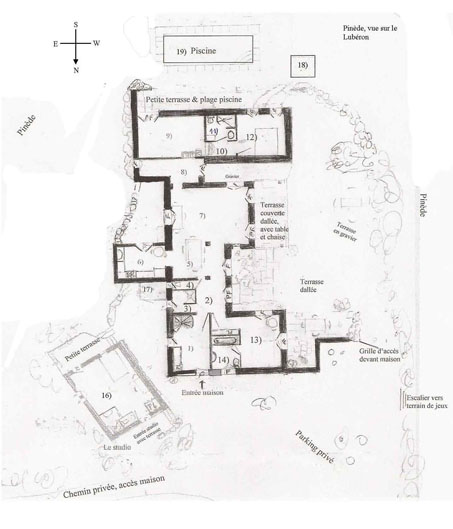Plan De Maison Avec Piscine. Free Plan Maison En Toit Plat Piscine